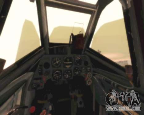 Bf-109 G6 for GTA San Andreas inner view