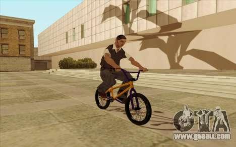 BMX for GTA San Andreas bottom view