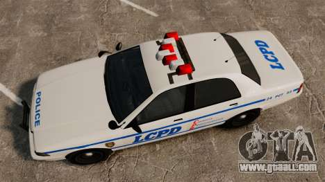 GTA V Police Vapid Cruiser LCPD for GTA 4 right view
