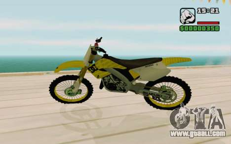 Suzuki RM 250 for GTA San Andreas left view