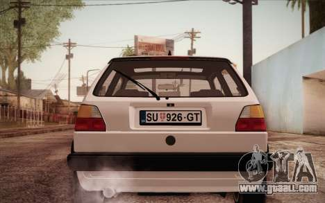 Volkswagen Golf Mk2 GTI for GTA San Andreas right view