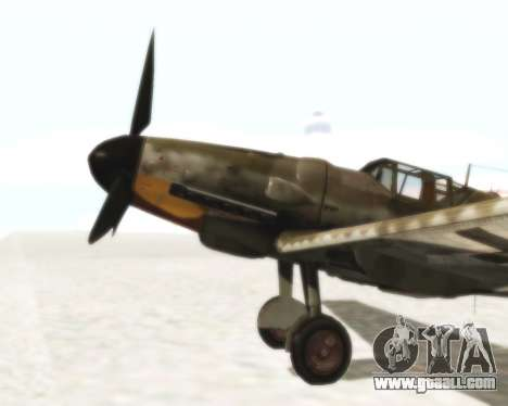 Bf-109 G6 for GTA San Andreas right view