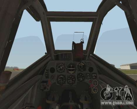 Bf-109 G6 v1.0 for GTA San Andreas side view