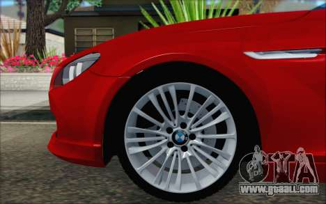 BMW 6 Gran Coupe v1.0 for GTA San Andreas back left view