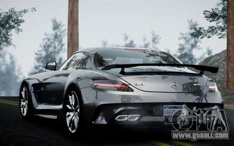 Mercedes-Benz SLS AMG Black Series 2014 for GTA 4 back left view