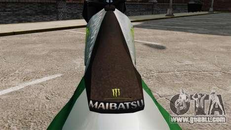 Sanchez Monster Energy for GTA 4 back left view