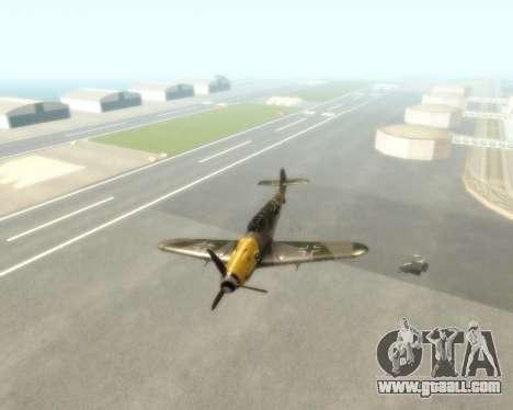 Bf-109 G6 v1.0 for GTA San Andreas back view
