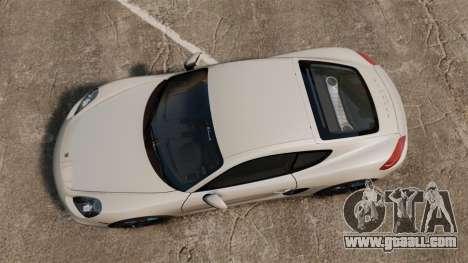 Porsche Cayman S 981C for GTA 4 right view