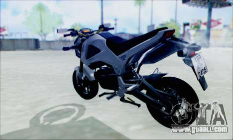 Honda MSX 125 for GTA San Andreas left view