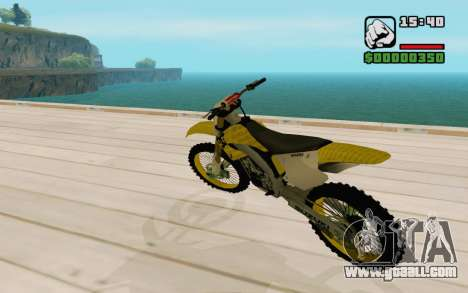 Suzuki RM 250 for GTA San Andreas back left view