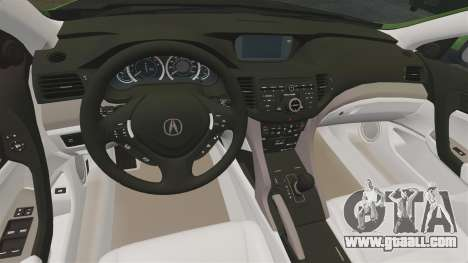 Acura TSX Mugen 2010 for GTA 4 inner view