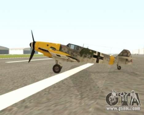 Bf-109 G6 v1.0 for GTA San Andreas back left view