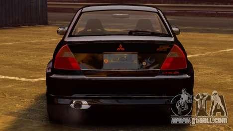 Mitsubishi Lancer Evolution VI GSR 1999 for GTA 4 right view