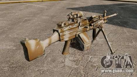 Light machine gun Mk 48 for GTA 4 second screenshot