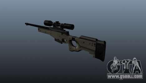 AI Arctic Warfare sniper rifle Police for GTA 4 second screenshot