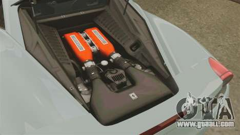 Ferrari 458 Italia 2009 for GTA 4 inner view