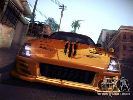 Toyota Supra Top Secret V12 for GTA San Andreas upper view