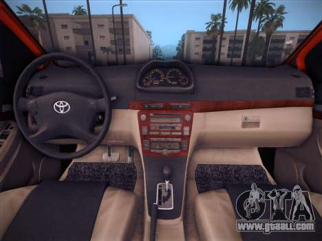 Toyota Vios Modified Indonesia for GTA San Andreas upper view
