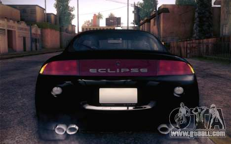 Mitsubishi Eclipse Fast and Furious for GTA San Andreas back view