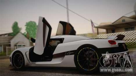 Koenigsegg Agera for GTA San Andreas left view