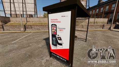 New advertising posters at bus stops for GTA 4