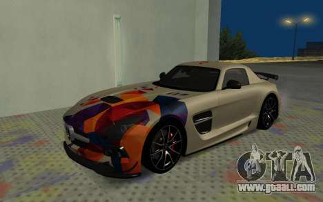 Mercedes-Benz SLS AMG 2013 Black Series for GTA San Andreas side view