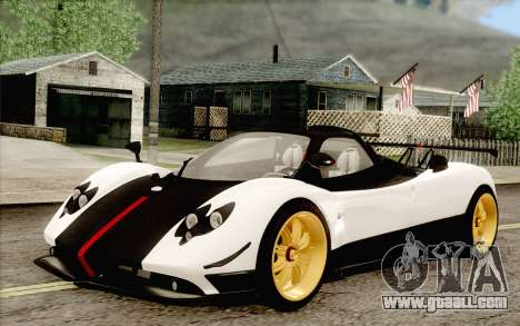 Pagani Zonda Cinque for GTA San Andreas back left view