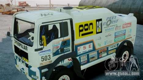 MAN TGA GINAF Dakar Race Truck for GTA 4 right view