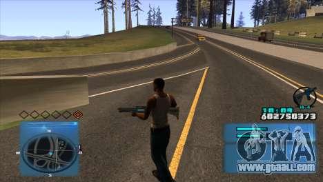 C-HUD Battlefield 3 for GTA San Andreas second screenshot