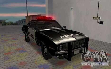 Chevrolet Camaro SS Police for GTA San Andreas left view