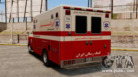 Iranian ambulance for GTA 4 back left view