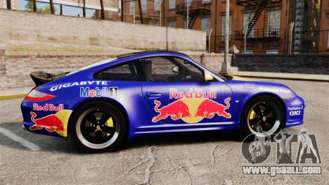 Porsche 911 Sport Classic 2010 Red Bull for GTA 4 left view