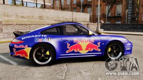 Porsche 911 Sport Classic 2010 Red Bull for GTA 4 left view