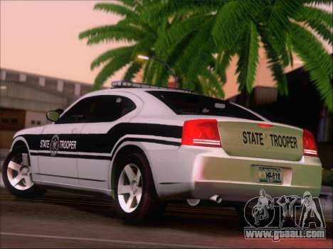 Dodge Charger San Andreas State Trooper for GTA San Andreas right view