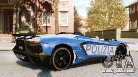 Lamborghini Aventador J Police for GTA 4 right view