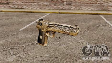 Luxury Desert Eagle pistol for GTA 4