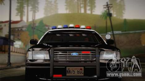 Ford Crown Victoria 2005 Police for GTA San Andreas back view
