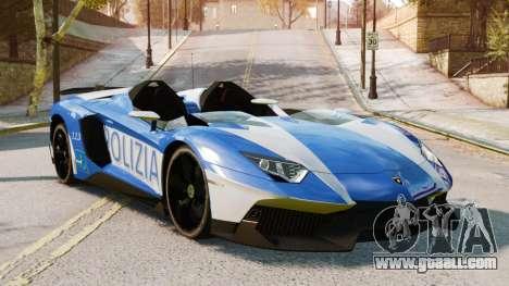 Lamborghini Aventador J Police for GTA 4 back left view