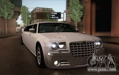 Chrysler 300C Limo 2007 for GTA San Andreas engine