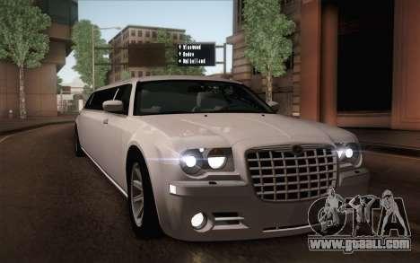 Chrysler 300C Limo 2007 for GTA San Andreas engine