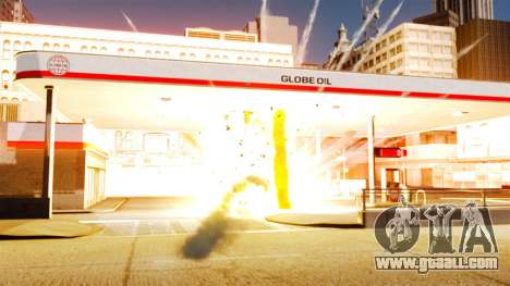 The new setting of fires and explosions for GTA 4