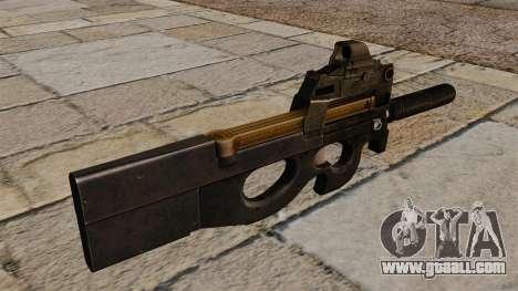 P90 submachine gun new for GTA 4 second screenshot