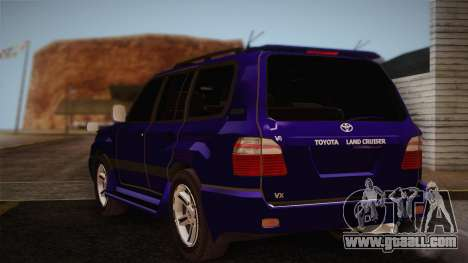 Toyota Land Cruiser 100VX for GTA San Andreas left view