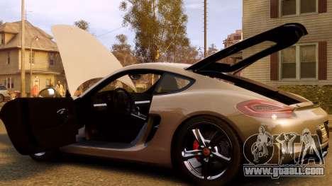 Porsche Cayman 981 S v2.0 for GTA 4 bottom view