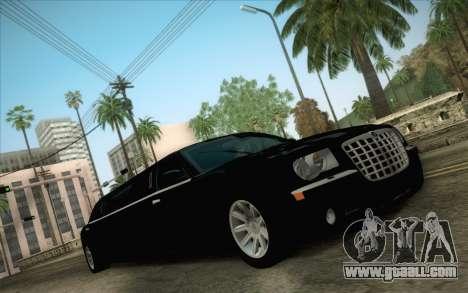 Chrysler 300C Limo 2007 for GTA San Andreas inner view