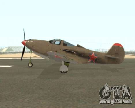 Aircobra P-39N for GTA San Andreas left view