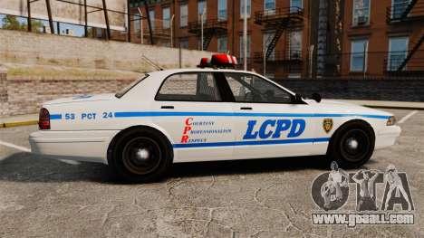 GTA V Police Vapid Cruiser LCPD for GTA 4 left view
