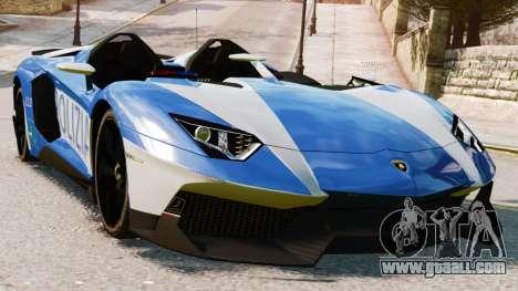 Lamborghini Aventador J Police for GTA 4