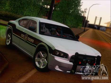 Dodge Charger San Andreas State Trooper for GTA San Andreas upper view