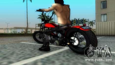 Harley Davidson Shovelhead for GTA Vice City back view
